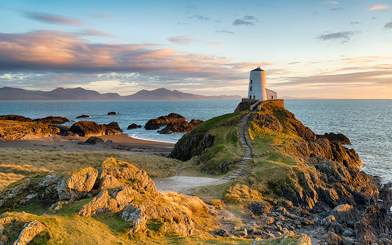A landscape of the sea in Yns Llanddwyn - Anglesey, Wales
