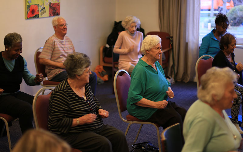 U3A chair yoga in action