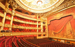 The interior of a grand Opera Theatre