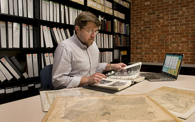 A man conducting some historical research