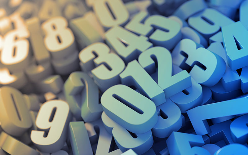 A pile of numbers