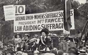 A women's suffragette march