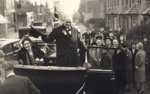 Winston Churchill tipping his hat