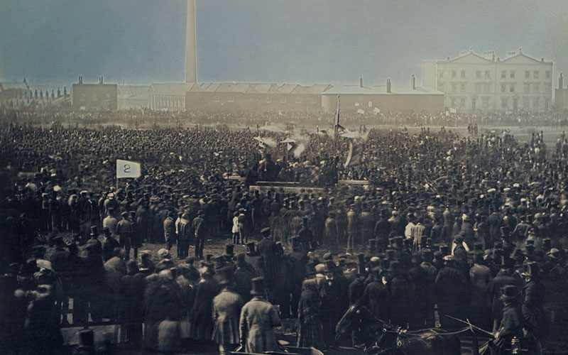 AChartist meeting on 10 April 1848 at Kennington Common