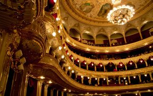The interior of the Odessa Opera Theatre