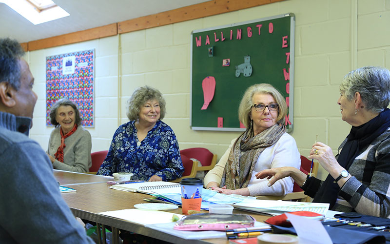 A photo of a U3A arts group in action