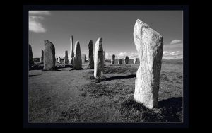 A collection of tall slender rocks poking up from the ground