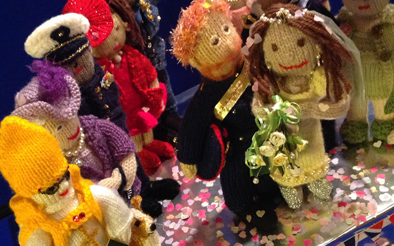 Royal wedding puppets created by a U3A arts group